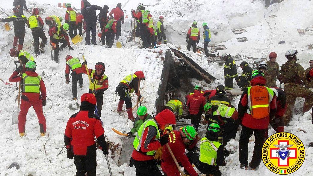 Nőtt az olasz lavina áldozatainak száma