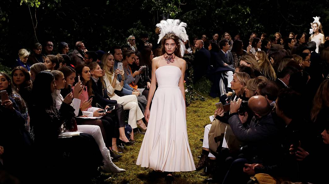 Dior's Maria Grazia Chiuri unveils collection at Paris Fashion Week