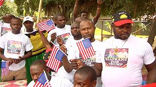 Nigeria: Pro-Biafra movement marches in support of Trump [no comment]