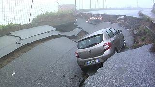 Chuva e cheias no sul de Itália
