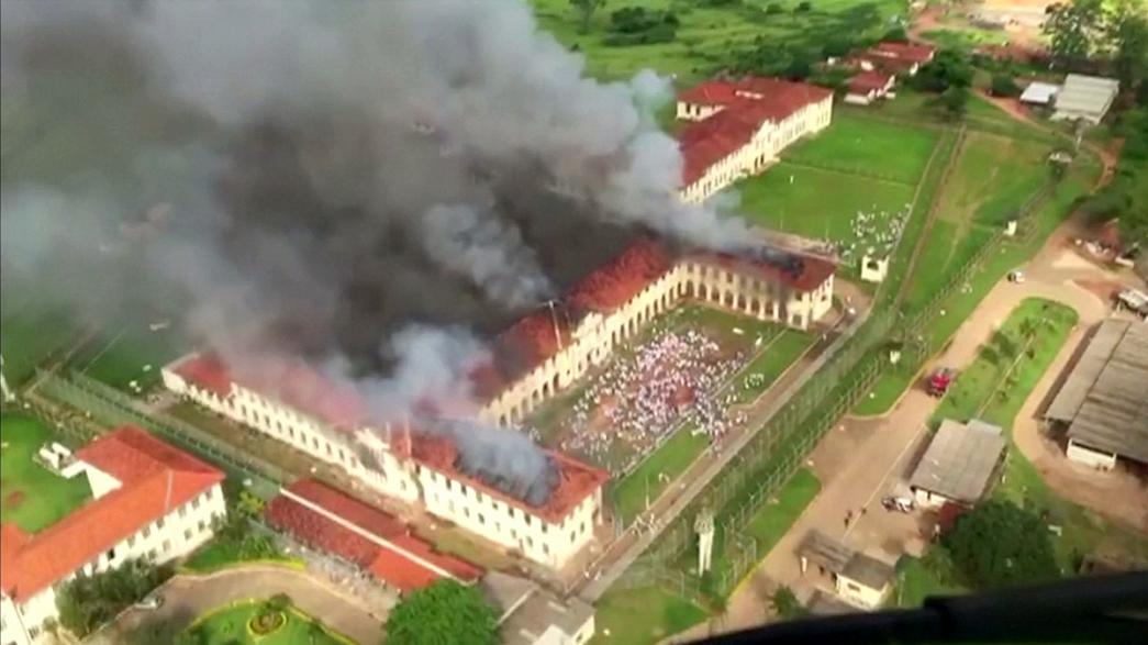 Brazil jail riot sees hundreds of inmates escape