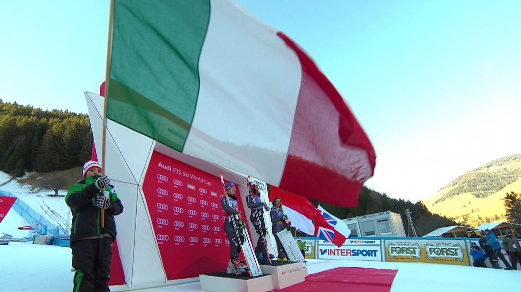 Esqui Alpinho: Italianas celebram em Kronplatz, Kristoffersen impõe-se em Schladming