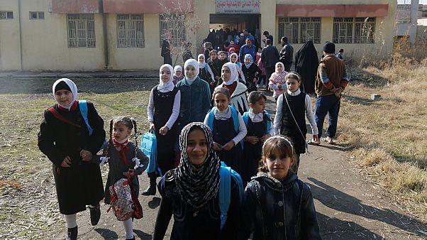 کودکان موصل به مدرسه بازمی گردند