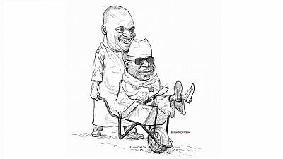 African cartoonists lampoon exiled Jammeh with 'barrow' art