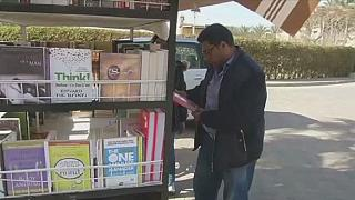Egypt: Library on wheels in Cairo streets