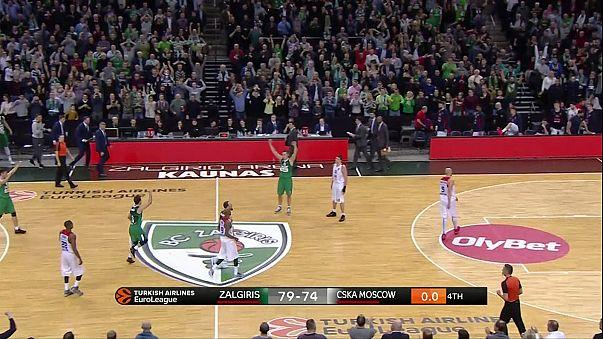 Euroliga: Zalgiris quebra malapata contra CSKA de Moscovo