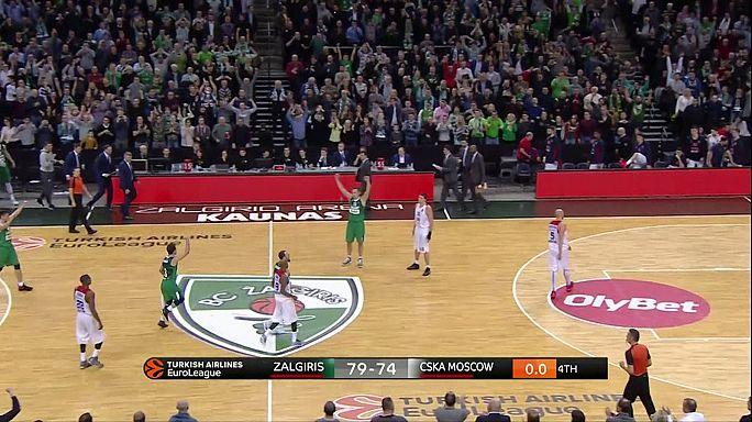 EuroLeague: Zalgiris stun defending champs CSKA, Pana hold off Barcelona