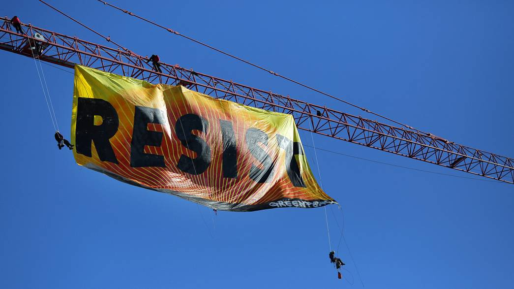 'RESIST': Greenpeace takes the fight to the White House