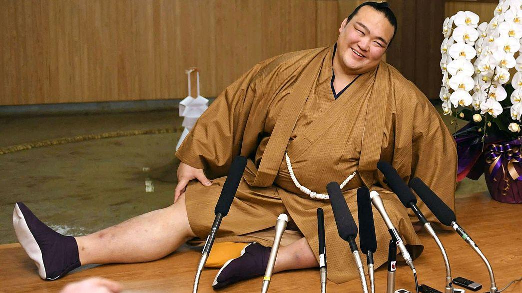 Japón vuelve a tener un gran campeón de sumo 19 años después