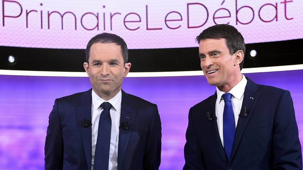 Hamon and Valls clash over the economy in TV debate
