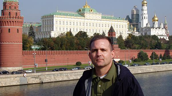 Image: Paul Whelan at the Kremlin in Moscow in 2006.