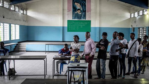 Voters cast ballots in Congo's general election