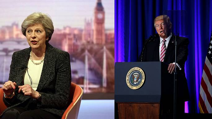 Theresa May incontra Donald Trump