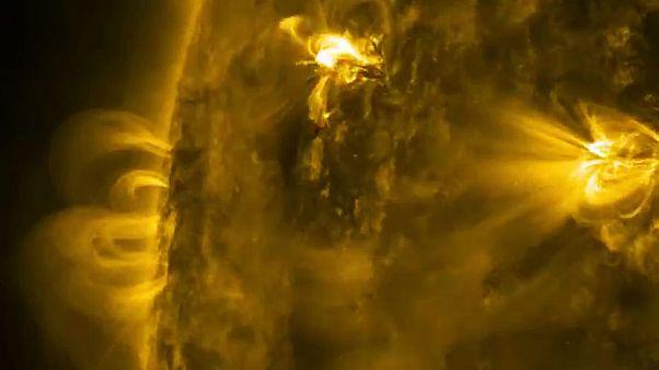 تصاویر منتشر شده از مناطق فعال سطح خورشید