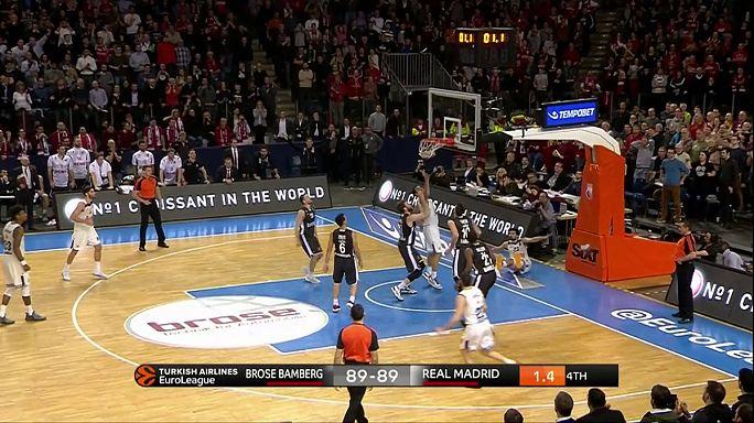 فوز ريال مدريد وميلانو في الدوري الأوروبي لكرة السلة