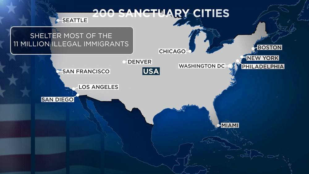 US Sanctuary Cities Face Funding Cuts If Migranttolerant - Map of sanctuary cities in us
