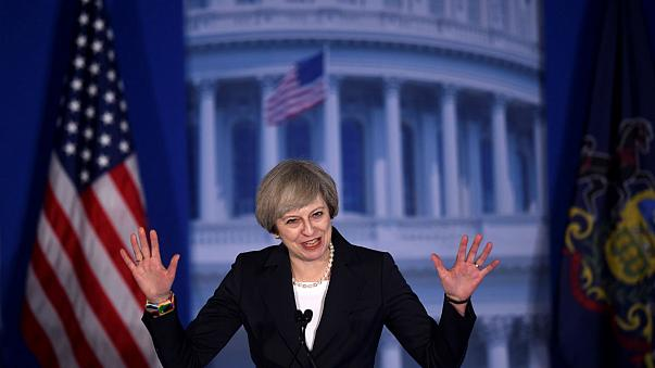 İngiltere Başbakanı Theresa May ABD'de
