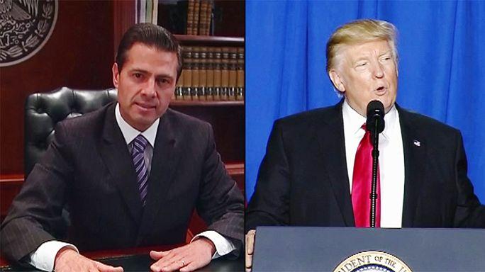 México critica a Trump por su amenza de pagar el muro con un impuesto a sus productos