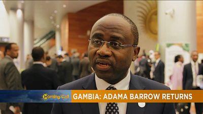 Adama Barrow de retour [The Morning Call]