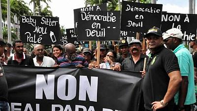 Mauritius opposition hold mass protest calling for fresh elections