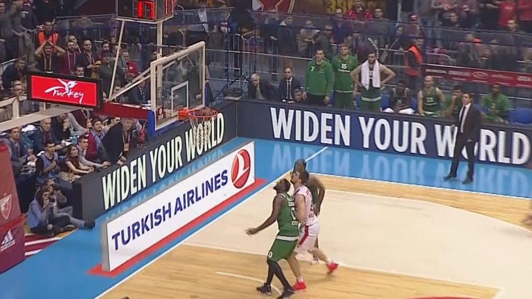 El Estrella Roja y el Fenerbahçe ganan en la Euroliga de baloncesto y afianzan su posición en la parte alta de la clasificación