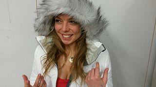 A Déli-sarkig síelne egy magyar lány