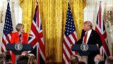 تيريزا ماي تؤكد من واشنطن أن الرئيس ترامب يدعم الحلف الأطلسي مئة في المئة