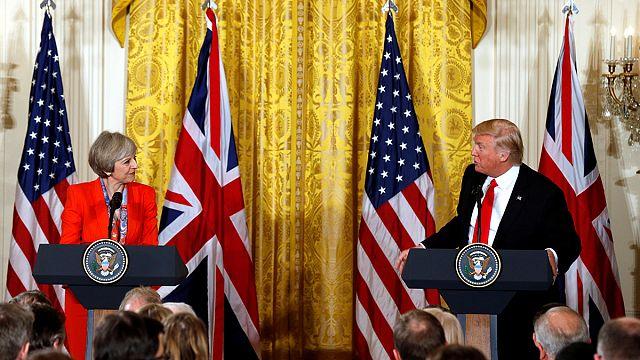 Trump e May reafirmam velha aliança entre EUA e Reino Unido