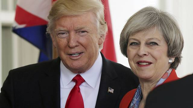 Holding hands, Trump and May renew 'deep bond' between US and UK