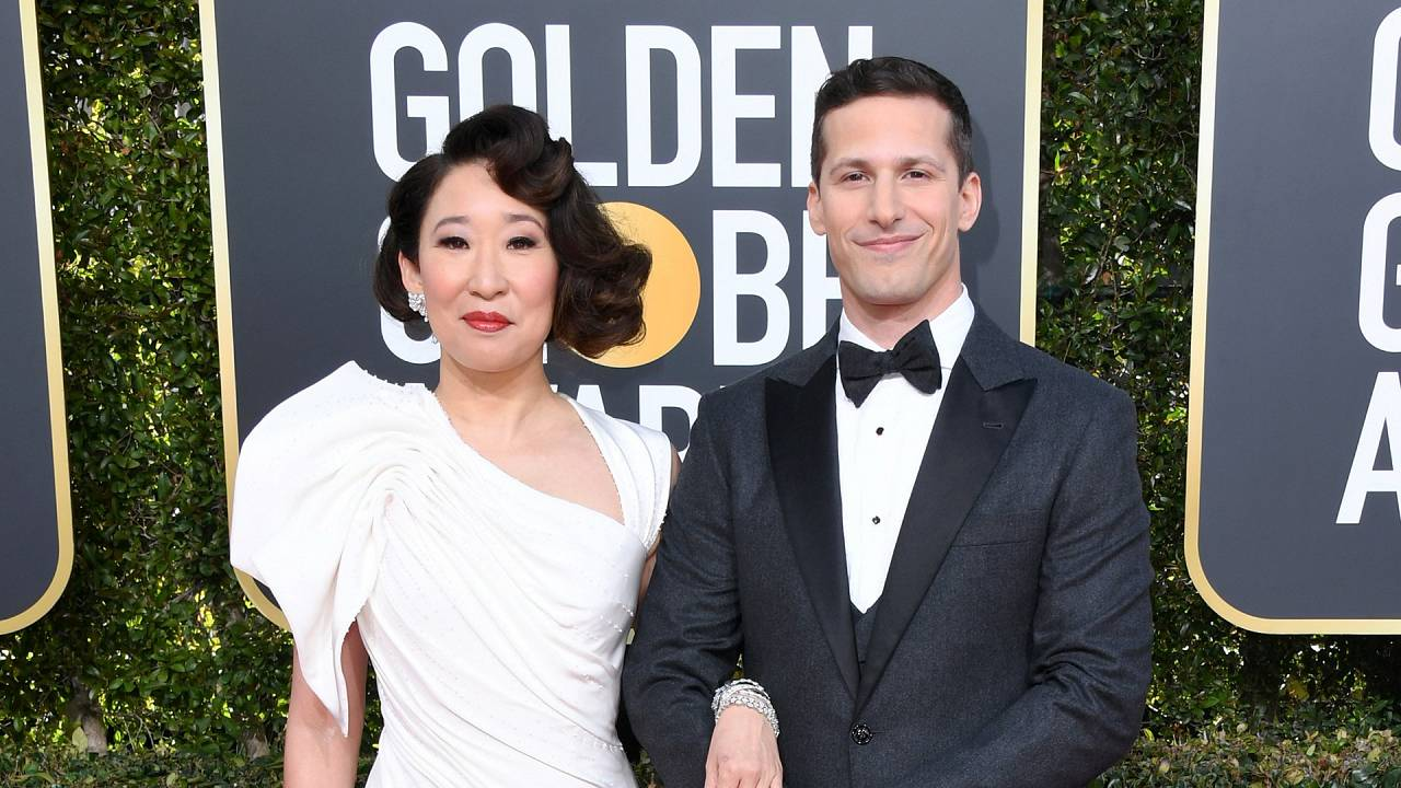 Sandra Oh and Andy Samberg Golden Globes