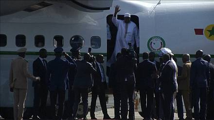 Gambia's President Adama Barrow departs Senegal for Banjul [no comment]