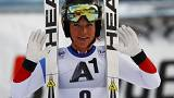 Gut wins prestigious Cortina downhill