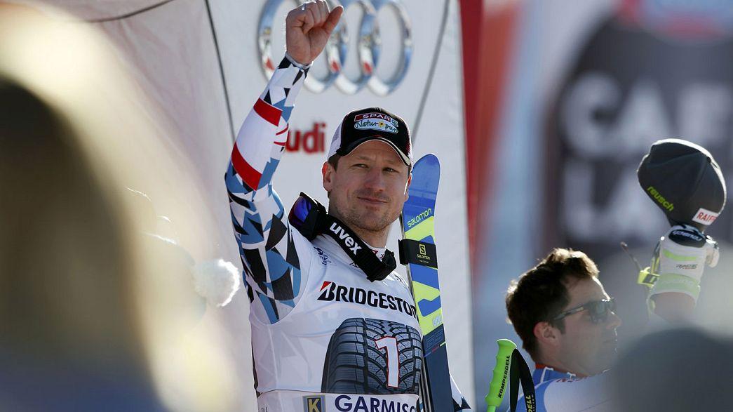 Hannes Reichelt triumphiert in Garmisch-Partenkirchen