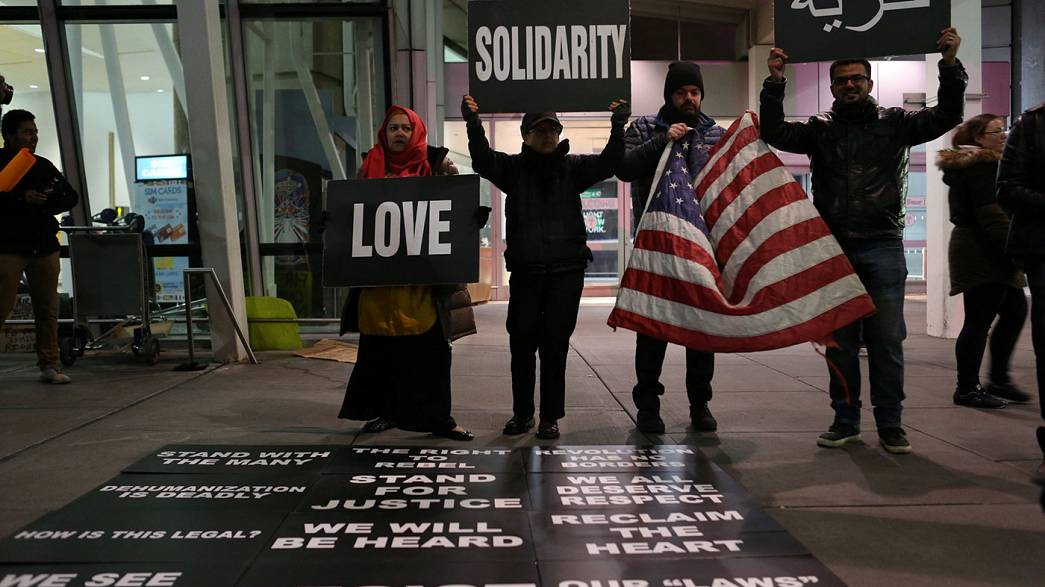 Trump sued by Iraqis detained at JFK under anti-Muslim travel ban