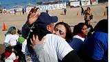 Mexico: hugs against the wall