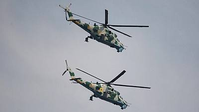 Four crew missing after military helicopters crash in eastern DR Congo