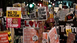 Proteste gegen britische Politik gegenüber Donald Trump