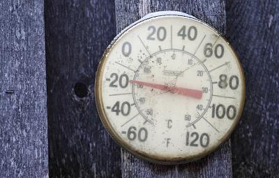 A backyard thermometer shows the temperature during the polar vortex in south Minneapolis, Minnesota on Jan. 6, 2014.