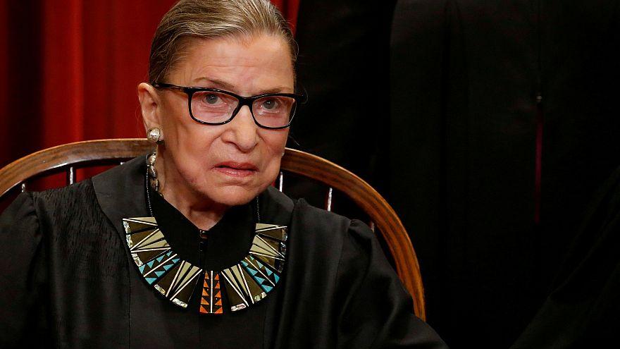 Image: Supreme Court Justice Ruth Bader Ginsburg in Washington on June 1, 2