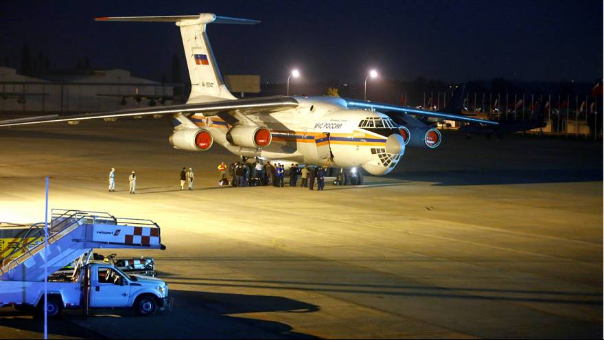 Russian plane combats forest fires in Chile