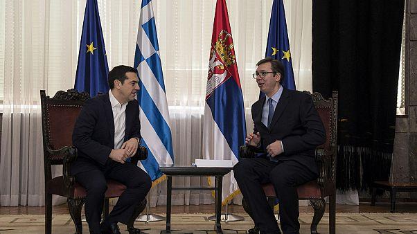 Τσίπρας: Στρατηγική επιλογή η ελληνοσερβική συνεργασία