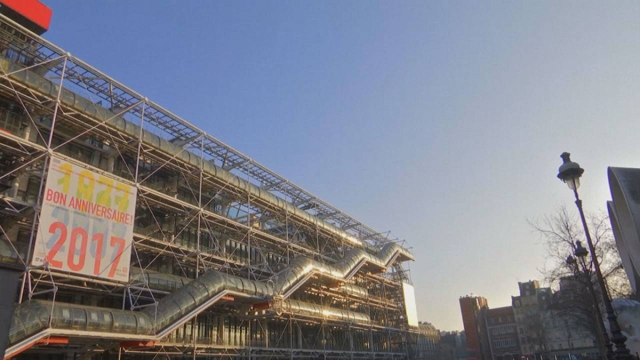 The Pompidou Centre in Paris celebrates its 40th birthday