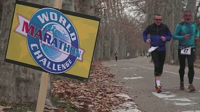 La sfida delle sette maratone nel mondo:record dello statunitense Wardian