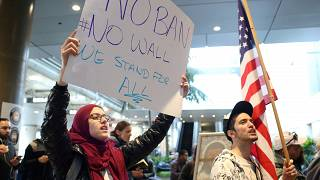 El veto migratorio de Trump divide a Estados Unidos