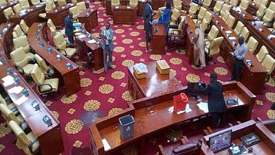 Roof of Ghana's parliament ripped off by rainstorm, sitting disrupted