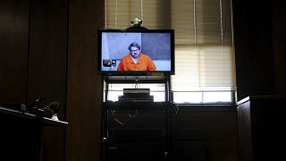Jason Dalton is seen on closed circuit television during his arraignment in
