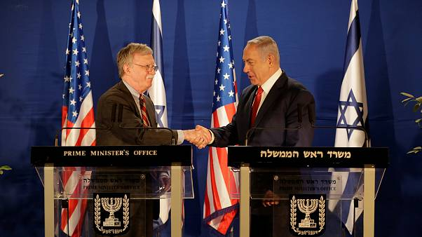 Image: U.S. National Security Adviser John Bolton meets Israeli Prime Minis
