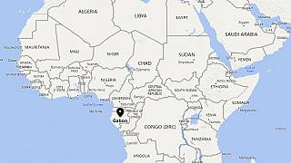 Image: A map showing the location of Gabon.