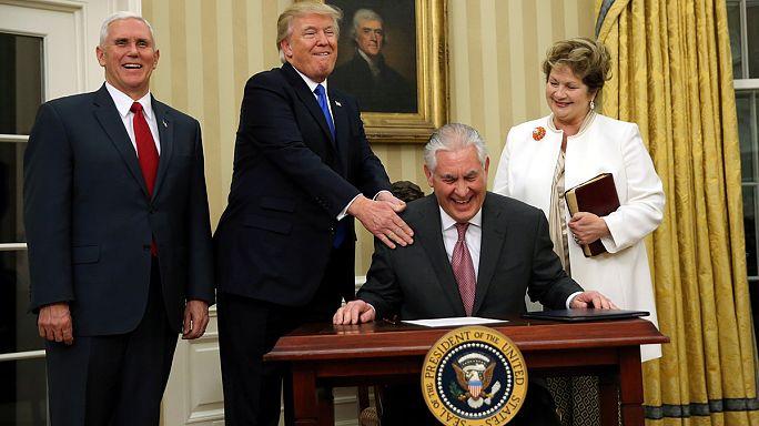 Usa. Ex-ad Exxon Mobil Rex Tillerson ha giurato come Segretario di Stato