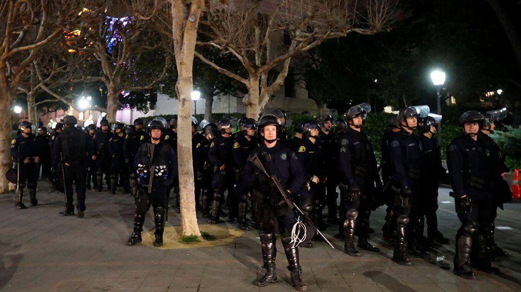 Berkeley öğrencileri Trump taraftarı bir editöre sert çıktı